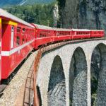 Ein Highlight unserer Carreise durch das Graubünden ist die Fahrt mit dem Regionalzug ab Poschiavo auf der Bernina-Strecke nach Cavaglia.